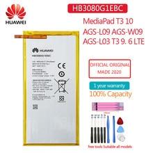 HB3080G1EBW Neue Original Batterie 4650mAh Für Huawei MediaPad T3 10 AGS-L09 AGS-W09 AGS-L03 T3 9,6 8,0 inch LTE Tablet batterien