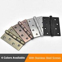 Dobradiça da porta de aço inoxidável, preta, 4 polegadas, dobradiça da porta para portas pesadas, acessórios de móveis