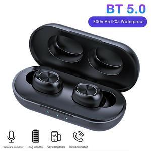 Image 1 - Auriculares inalámbricos B5 TWS Bluetooth 5,0 con Control táctil, auriculares de música estéreo 9D resistentes al agua con batería externa de 300mAh
