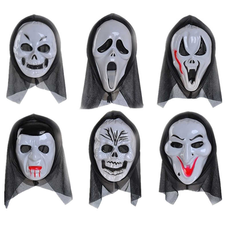 Scary Black Blooding Ghost Mask Cosplay Halloween Costumes Party Prop Fancy Dress Adult Costume Accessory Party Cosplay Masks