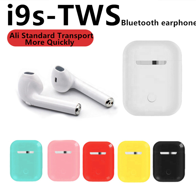 i9s tws <font><b>Bluetooth</b></font> Earphone <font><b>5.0</b></font> Headphone Wireless Earbuds Sport Handsfree 3D Stereo Surround Sound Music Colorful For <font><b>Smartphone</b></font> image