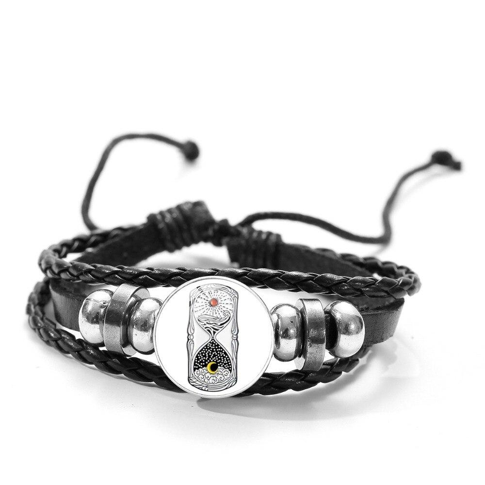 Les pompiers Protection Verre Cabochon Bracelet Tressé Bracelet En Cuir Bracelets