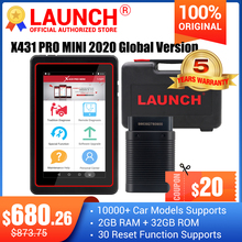 Lansmanı X431 Pro Mini Bluetooth/Wifi tam ECU teşhis tarayıcı 2 yıl ücretsiz güncelleme ile X 431 artıları Mini tarama tarayıcı analizörleri