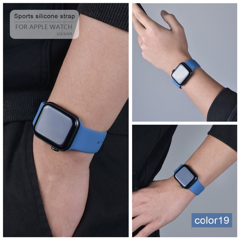 Soft Silicone Band for Apple Watch 104