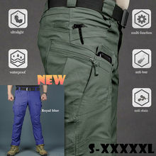 Men's Quick Dry Lightweight Cargo Pants Classic Casual Outdoor Hiking Army Fan Tactical Joggers Military Multi-pocket Trousers