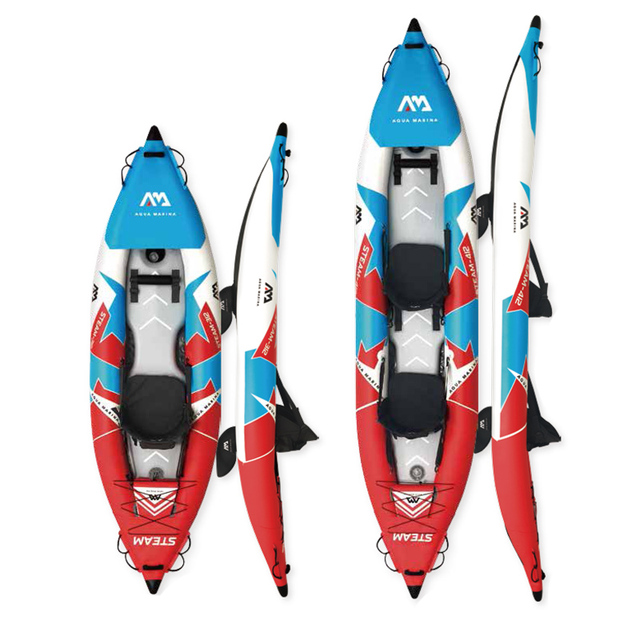 PVC inflatable kayak canoe sport boat with professional laminate floor