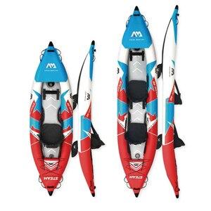 2020 Aqua Marina STEAM ST inflatable boat sport kayak canoe pvc dinghy raft pump seat drop-stitch floor laminated professional(China)