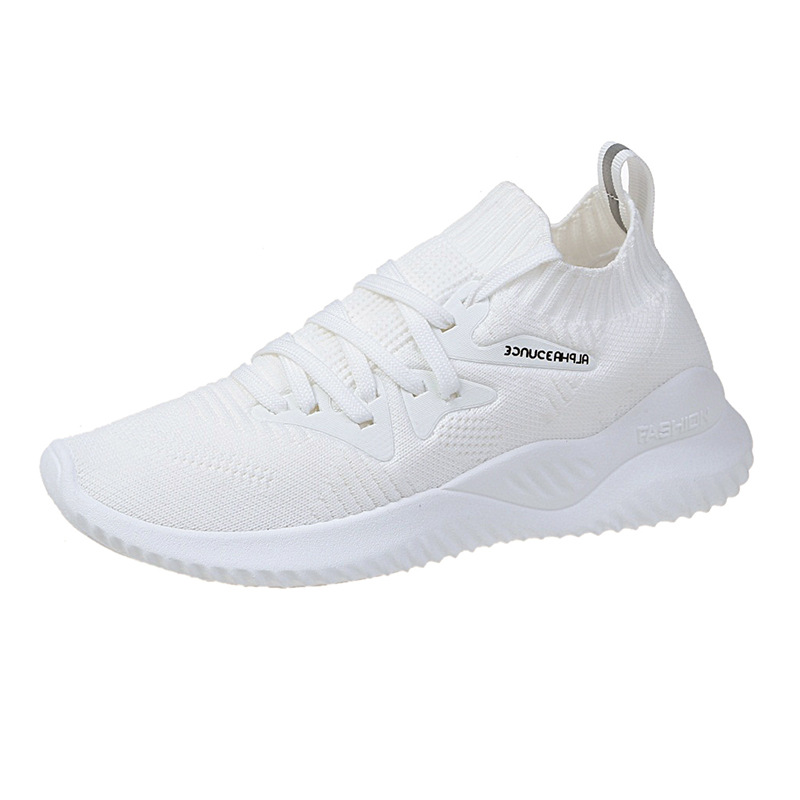 2020 Spring And Summer New Style Breathable Fly Woven Athletic Shoes Korean-style Versatile WOMEN'S Shoes Women Sneakers