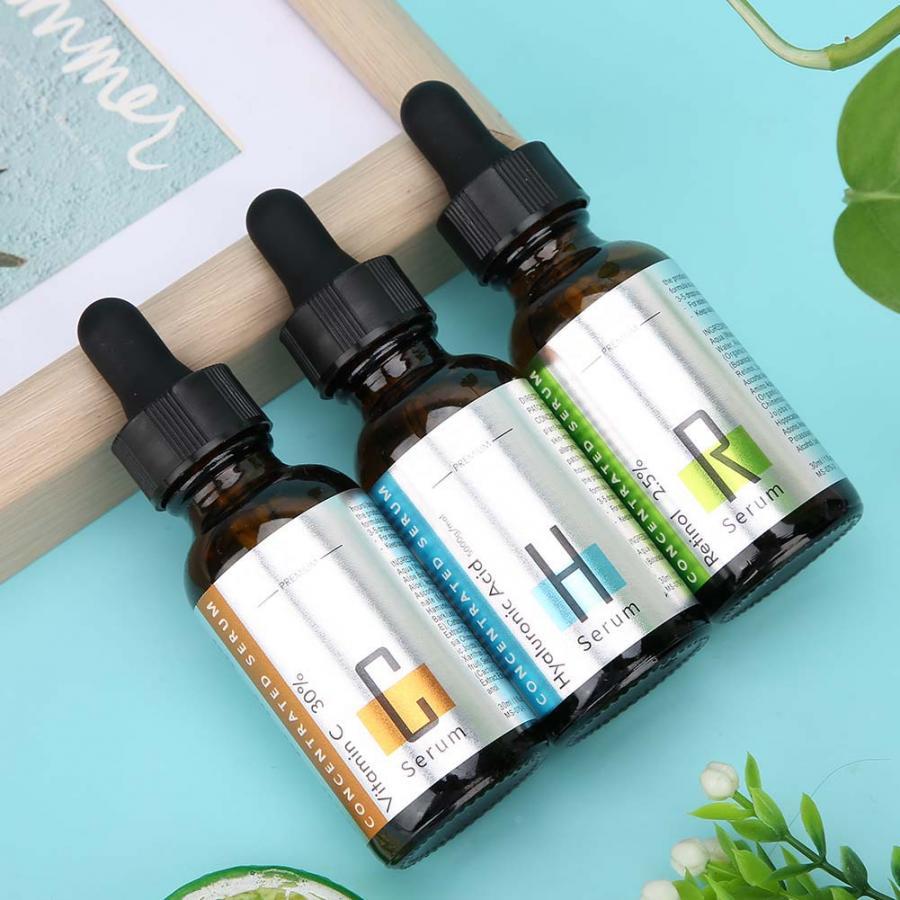 3pcs 30ml Vitamin C Hyaluronic AcidRetinol Serum Facial Care Serum Skin Care Tool Deep Nourish Facial Serum