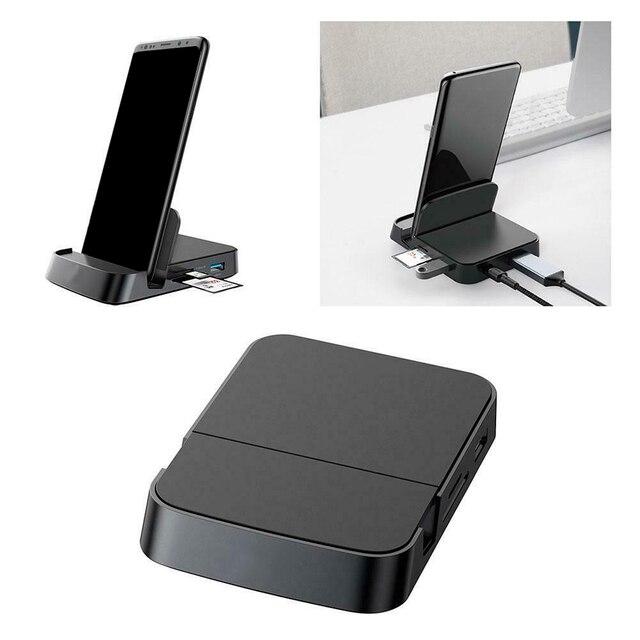Док станция для телефона Huawei Samsung, док станция с разъемом USB C HDMI, адаптер питания
