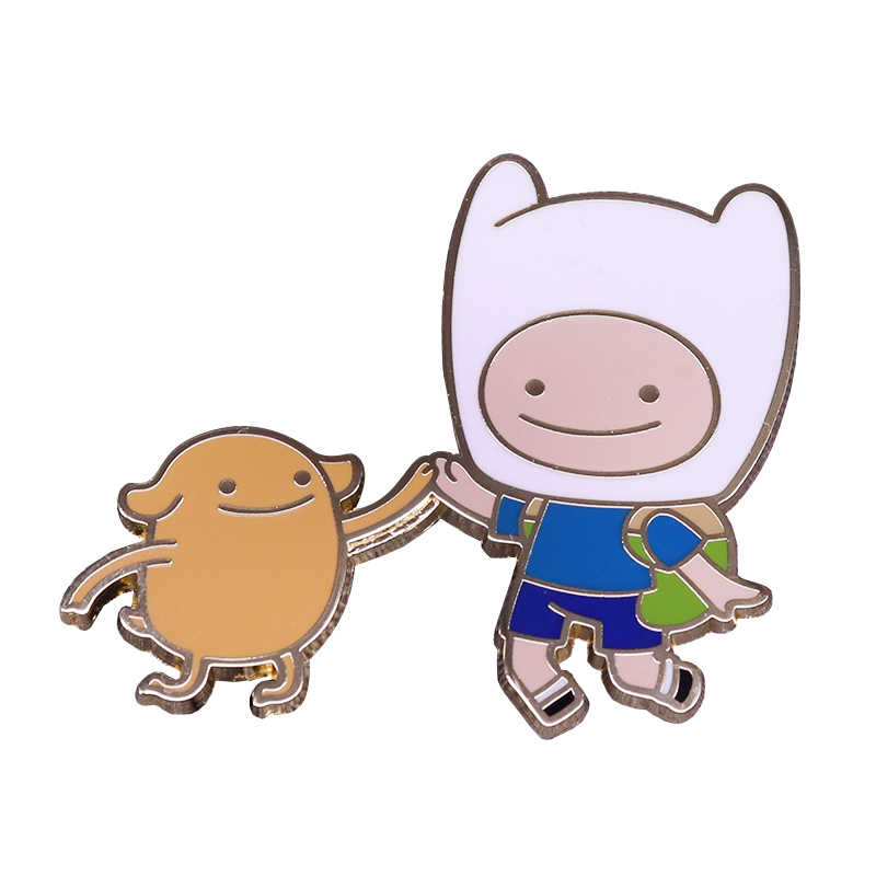 Adventure Time distintivo migliore amici Finn la umani e Jake the dog del fumetto divertente decor