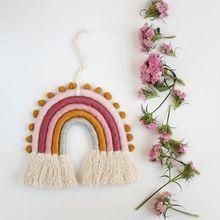 Детские украшения для рождения ручные игрушки с радужной расцветкой Висячие декорарионы настенные подвесные художественные Декорации для дома детские украшения для спальни