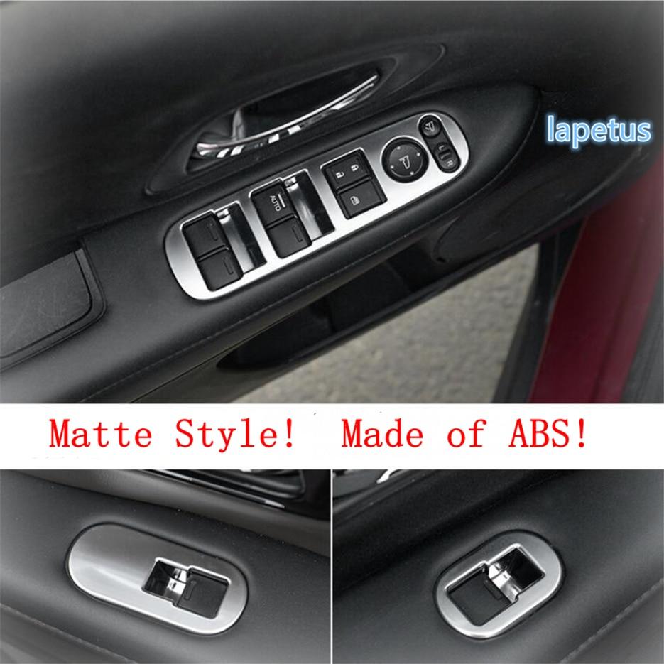Lapetus Inner Door Armrest Window Lift Button Decoration Frame Cover Trim Fit For Honda Vezel HR-V 2014 - 2019 ABS Carbon Fiber
