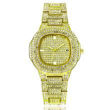 Chegam novas moda gypsophila diamante cravejado calendário de aço quartzo diamante relógios femininos casuais senhoras relógio relogio feminino