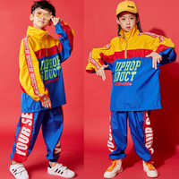 Hip Hop Costumes Child Jazz Clothing Modern Dancing Stage Outfit Street Dance Show Wear Boys Loose Personality Jacket DNV12181