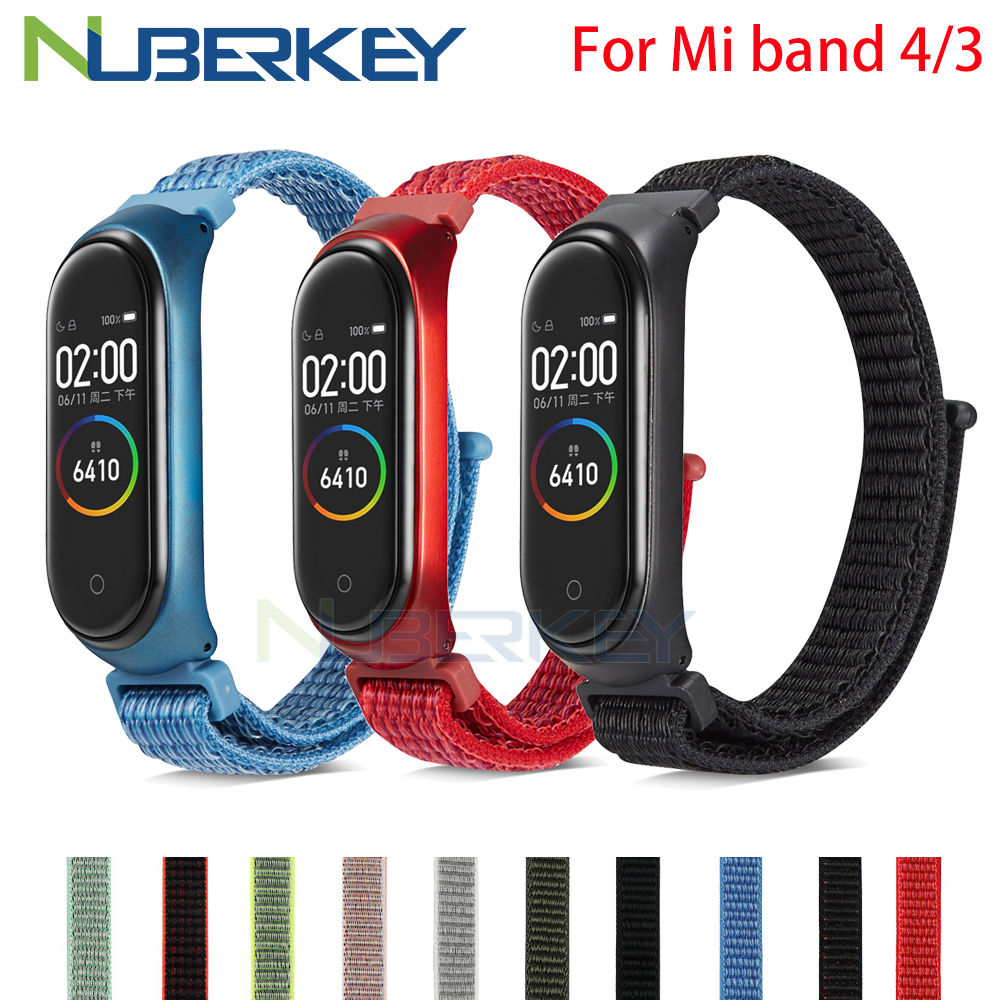 Nylon loop replaceable Bracelet for Xiaomi Mi band 3 Sports Wristband Breathable Strap for Xiaomi Miband 4 smart watch Accessori-in Smart Accessories from Consumer Electronics