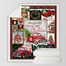 Большое теплое толстое одеяло с рисунком совы рождественского