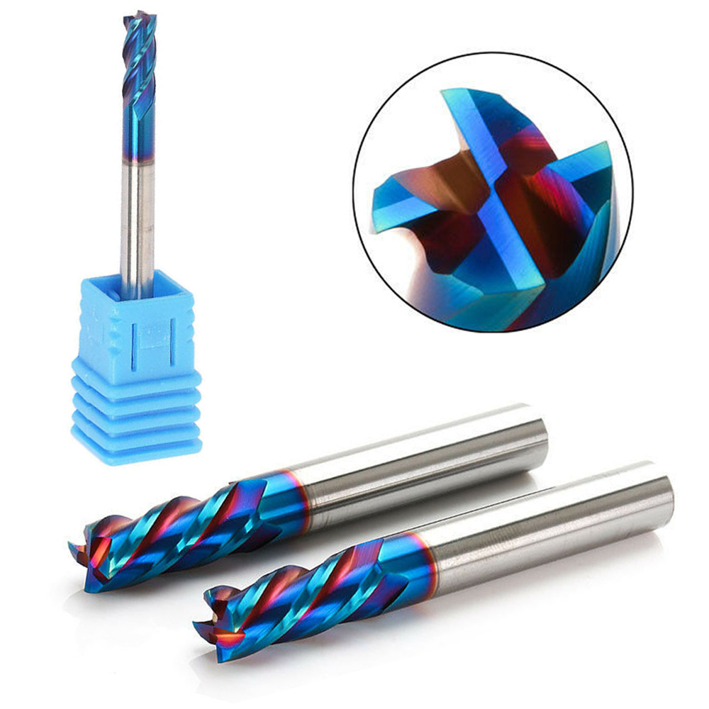 6mm HRC65 ° 4F Nano Tungsten Carbide End Mill Milling Cutter For Stainless Steel Carbide Milling Tungsten Steel Milling Cutter