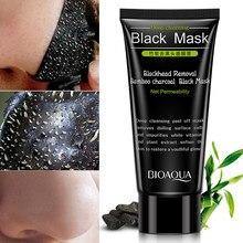 Máscara facial removedor de cravo creme cuidados com a pele encolher poros acne remoção de cabeça preta nariz purificação tipo casca máscara tslm1