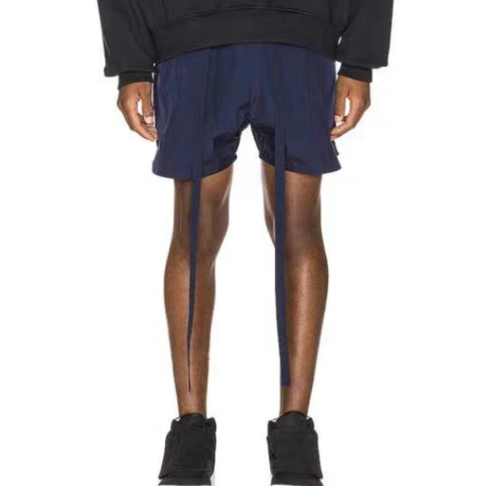 2020ss Kanye West Belted Track Shorts Mesh Lined Lightweight Sweat Shorts Four-pocket Styling Hip Hop High Quality Streetwear