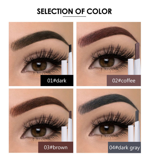 MIXDAIR Eyebrow Pencil 4 Colors Natural Long Lasting Paint Eye Brow Tint Double-end Waterproof Eyebrow Pen Beauty Make Up 1