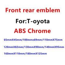 1 pçs abs chrome cabeça do carro capô frente emblema cauda traseira tronco adesivo emblema estilo do carro