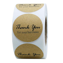 Round Kraft Thank Yousticker Seal Labels Stickers Scrapbooking for Business Package Stationery Sticker Office Work 500pcs/Roll