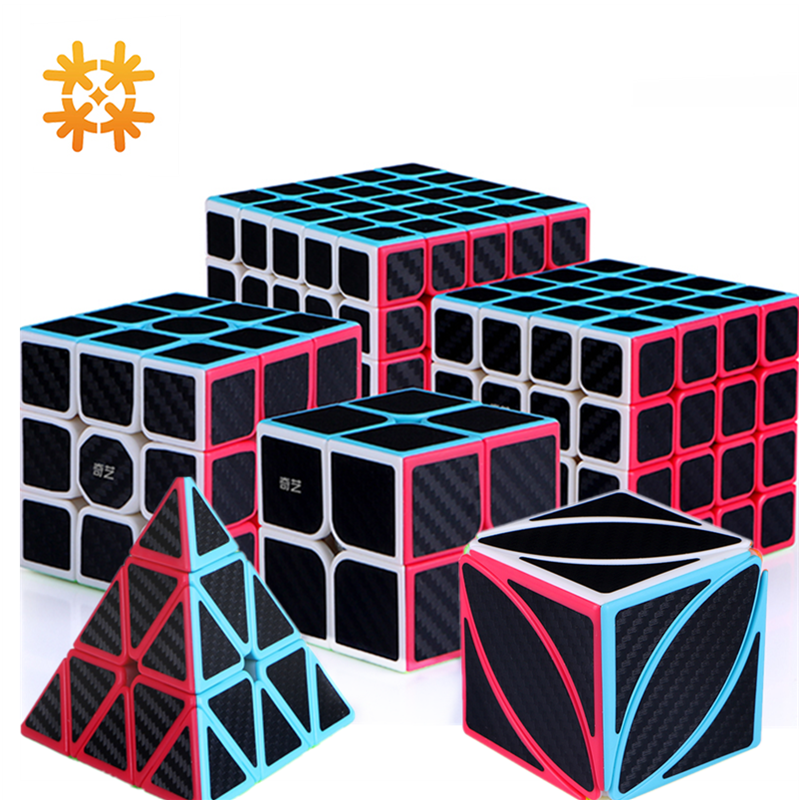 Qiyi Carbon Fiber Speed Cubes Professional Magic Cube 3x3x3 Cubo Puzzle Sticker Children Educational Toys For Adults Boys Gift