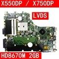 X550DP LVDS HD8670M 2GB VRAM Mainboard REV 2 0 Für ASUS X550DP X750DP X550 X550D K550DP Laptop Motherboard Vollständig Getestet
