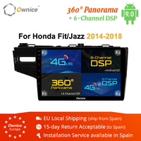 10.1inch Ownice K1 K2 K3 K5 K6 Android 9.0 Car DVD Player for HONDA FIT Jazz 2014 2018 4G LET GPS Navi 4G LTE 360 Panorama DSP