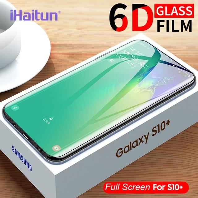 Ihaitun Full Cong Cường Lực Kính Cường Lực Bảo Vệ Màn Hình Trong Cho Samsung Galaxy S10 S10E S9 S8 Plus Note 8 9 10 kính Phụ Kiện