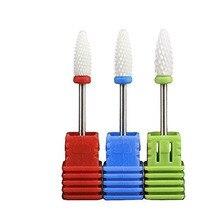 1pc Nail Drill BIt Corn-Shape XF/F/M/C/XC Ceramic 3/32 Drill Grit Bit Milling Cutter Removing Nail UV Gel Polish Drill Bit 1pcs hot 1pcs round shape plastic hard 100pcs 1 13mm drill bit storage case blue
