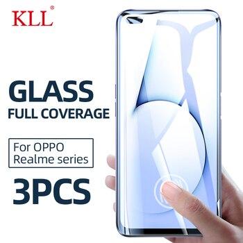Перейти на Алиэкспресс и купить 1-3 шт полное покрытие закаленное стекло для OPPO Reamle 6S 6i 6 X2 Pro Защита экрана для Realme X50 5 5i 5s 3 Pro защитное стекло