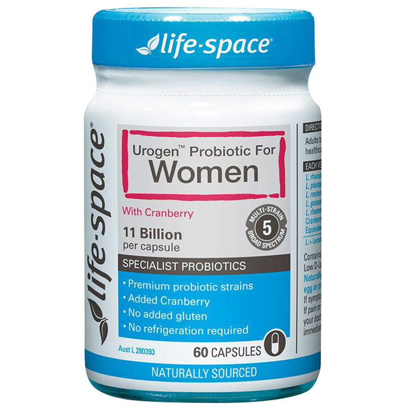 Australia Life Space Urogen Probiotic For Women Support Urinary Tract Health Reduce Recurrent Cystitis Healthy Vaginal Flora