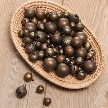 Cloche en Bronze rétro faite à la main 10 pièces, petites cloches en cuivre Jingle collier Bracelet outils de fabrication accessoires de décoration de maison artisanat
