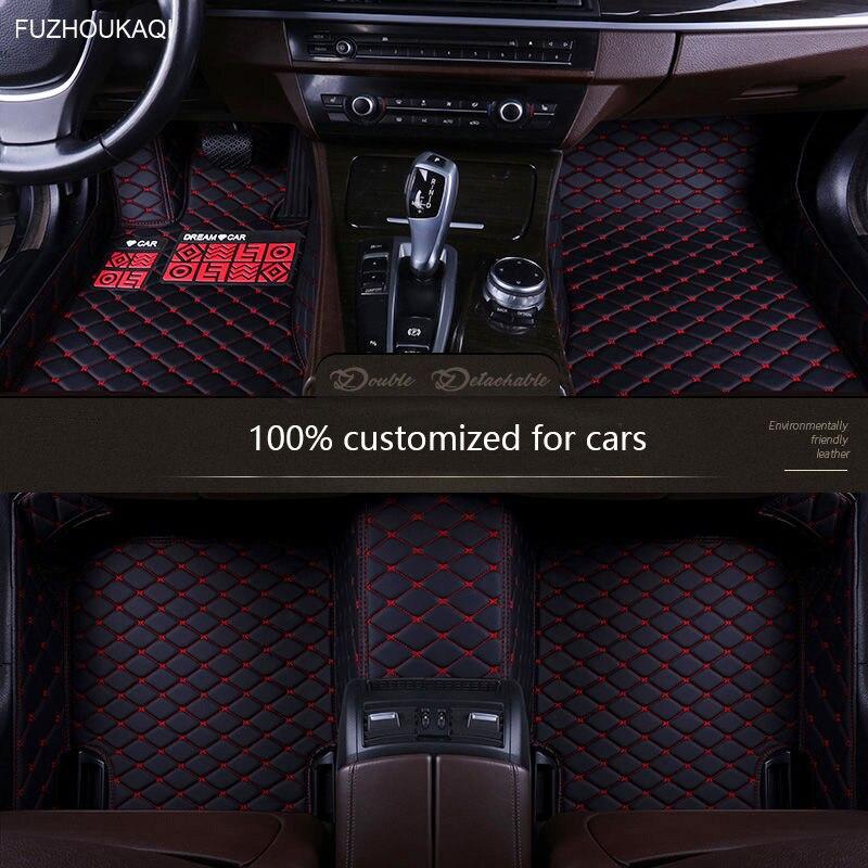 Car Floor Mats For Toyota Rav4 2020 2019 (XA50 50) Auto Interior Accessories Waterproof Protector Covers Leather Carpets Rav 4