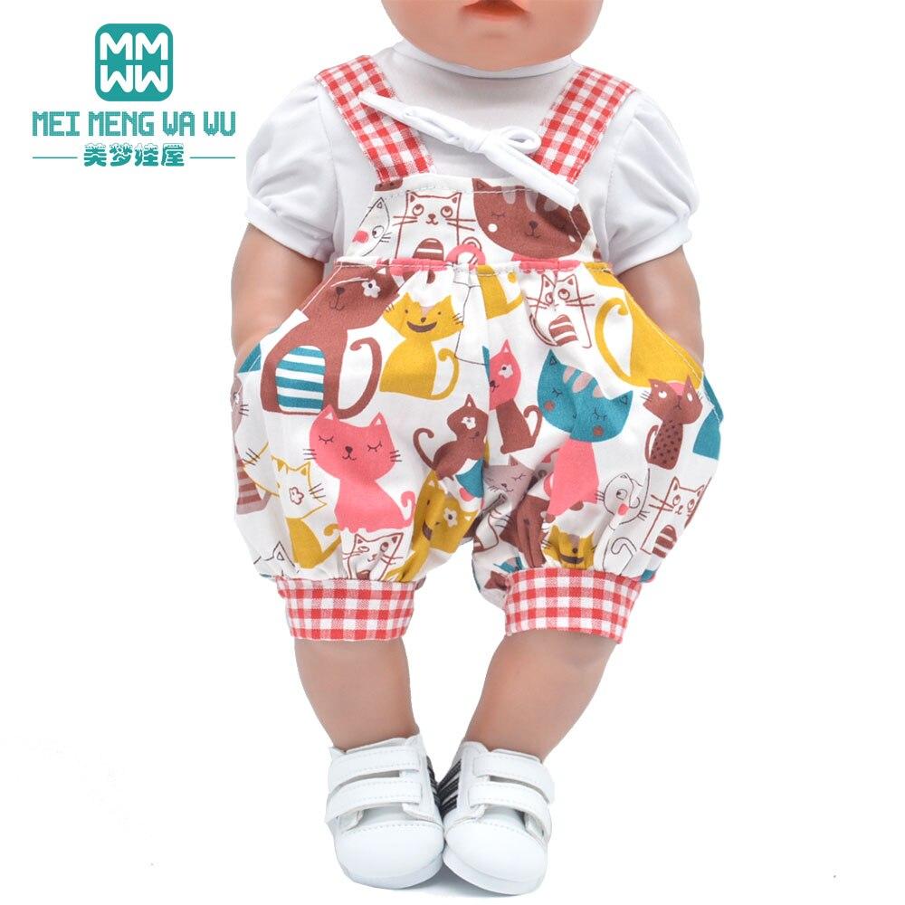 Ubrania dla lalki dopasuj 43cm zabawka dla dziecka noworodki lalka i 45cm amerykańska lalka moda kreskówka garnitur, płaszcz z kołnierzem z futra