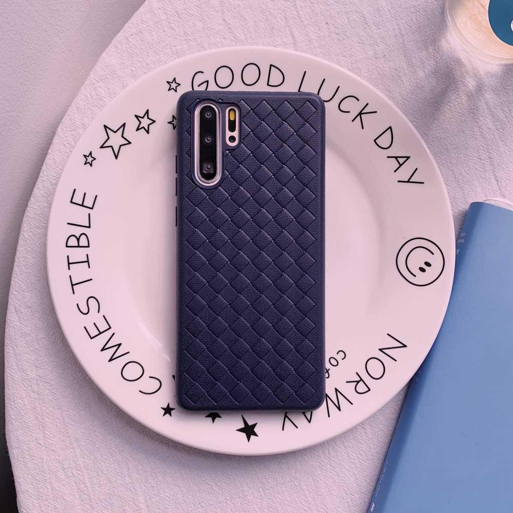 Weave Braid Grid Intrecciato Zachte Tpu Silicone Cover Case Voor Xiaomi Mi 9T A3 Redmi Note 5 Plus 6 6A 7A 7 8 8A 8T 9S 9 Pro Max