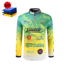 4 Styles New Fishing Jersey Sun Protection Long Sleeve Clothing Quick Drying Breathable Stand Collar Ice Outdoor Sports Clothes