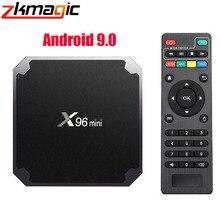 Smart TV BOX X96 mini, Android, decodificador de señal con Amlogic S905W, Quad Core, reproductor multimedia 4K, wi fi 2,4 GHz, X96mini reproductor multimedia, Android 9,0