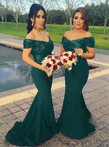 Women's Sequin Mermaid Bridesmaid Dresses Off Shoulder Wedding Guest Elegant Dress Women For Party Gowns Robe De Soiree Mariee