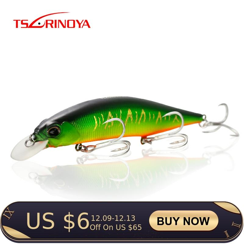 TSURINOYA Fishing Lure DW51 120mm 19.5g Long Casting Suspend Minnow Hard Lure Topwater Lure Depth 0-1.5m Artificial Pike Baits