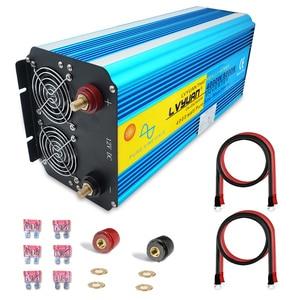 8000 Вт пиковая мощность 12 В/24 В EU розетка, двойной светодиодный дисплей, USB чистая Синусоидальная волна, инвертор постоянного тока, Двойной AC Р...