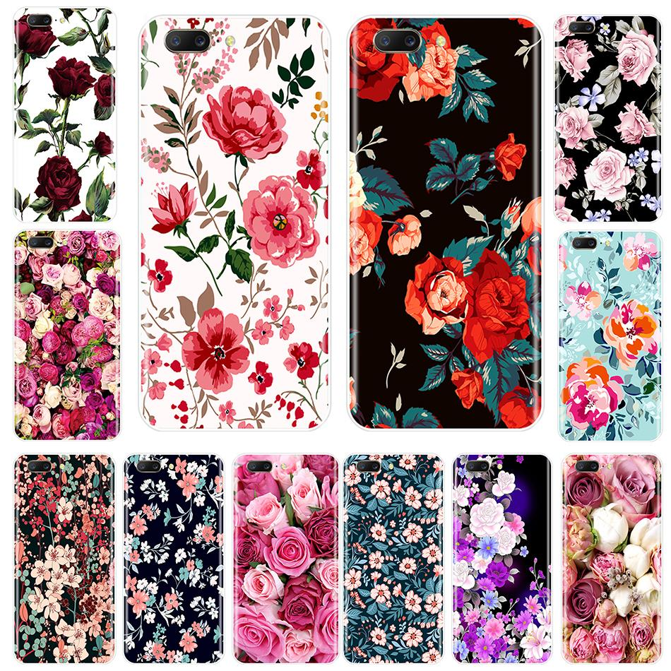 For One Plus 3 3T 5 <font><b>5T</b></font> 6 6T <font><b>Case</b></font> <font><b>Silicone</b></font> Colorful Flowers Pattern Back Cover For <font><b>OnePlus</b></font> 6 6T 5 <font><b>5T</b></font> 3 3T Phone <font><b>Case</b></font> image