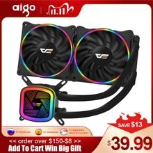 Aigo PC Fall Wasser Kühlung Computer CPU Kühler RGB Wasser Kühler Kühlkörper Integrierte CPU Kühler LGA 1151/2011/AM3 +/AM4