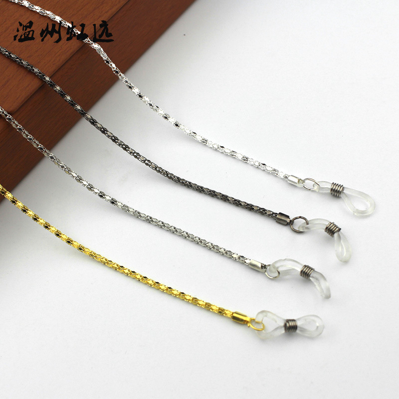 Sunglasses Chain-Holder Cord Necklace Spectacles Lanyard Fashion Silver Gold Vintage