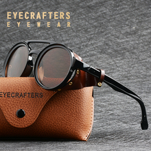 Eyecrafters Men Steampunk Goggles Sunglasses Women Retro Shades Fashion Leather