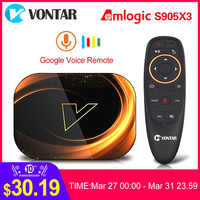 2020 VONTAR X3 4GB 128GB 8K TVBOX Amlogic S905X3 Smart TV BOX Android 9,0 Wifi 1080P 4K Android TV Set Top Box 4GB 64GB 32GB