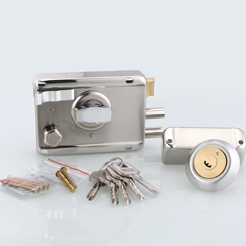 1set! Professional exterior door lock Security Anti theft Lock Multiple Insurance Wood Gate Lock For Furniture Hardware