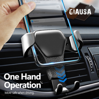 цена на GIAUSA Gravity Car Phone Holder Suitable For Car Vents No Magnetic Universal Cellphone Holder For iPhone Samsung Huawei Xiaomi